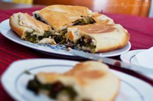 Pizza con le scarole di Maria Di Scala - Foto Angelo Pesce